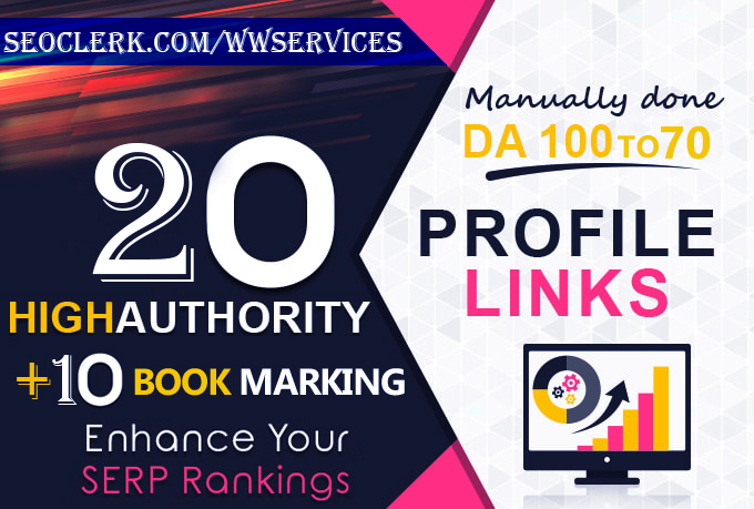 I Will Provide the Most Power Full Profile+Social Bookmark Backlinks.