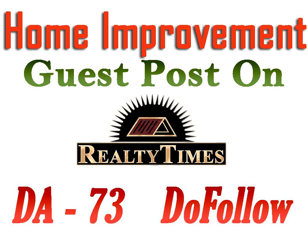 Guest Post on Home improvement website Realtytimes. com Da 73