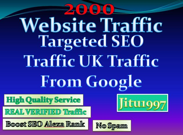 Organic 2000 Targeted SEO UK Website Traffic From Google