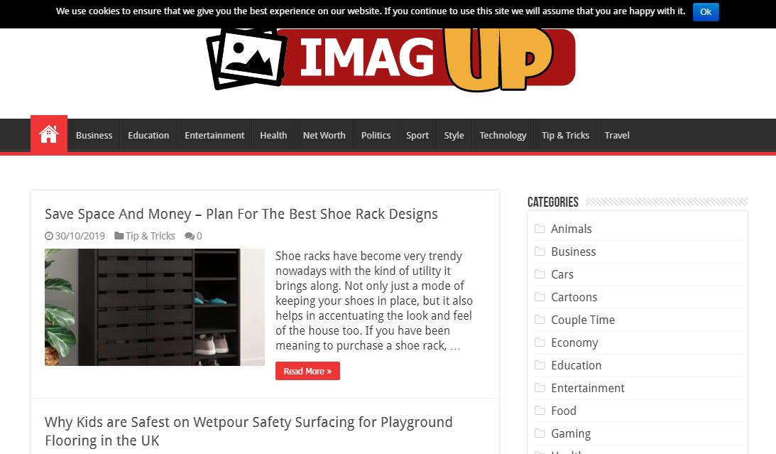 Guest post on Business start-up General blog Imagup. com DA75