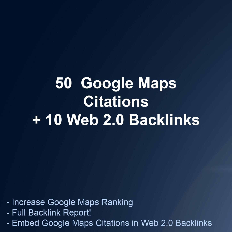 I will do 50 google maps citations for local business SEO I premium backlinks