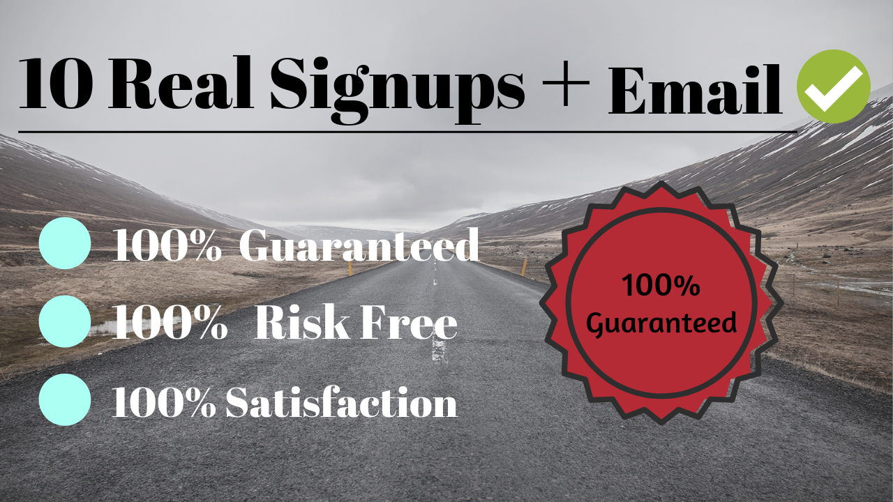 Manually 10 Worldwide Referral signups with real email confirmation
