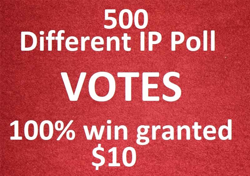 Bring 500 different ip votes from unique ip address