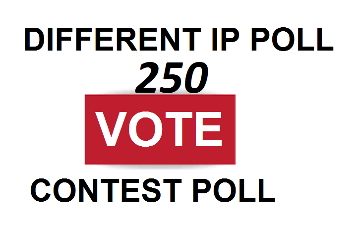 Ge offer 250 Different IP votes contest that you are participating