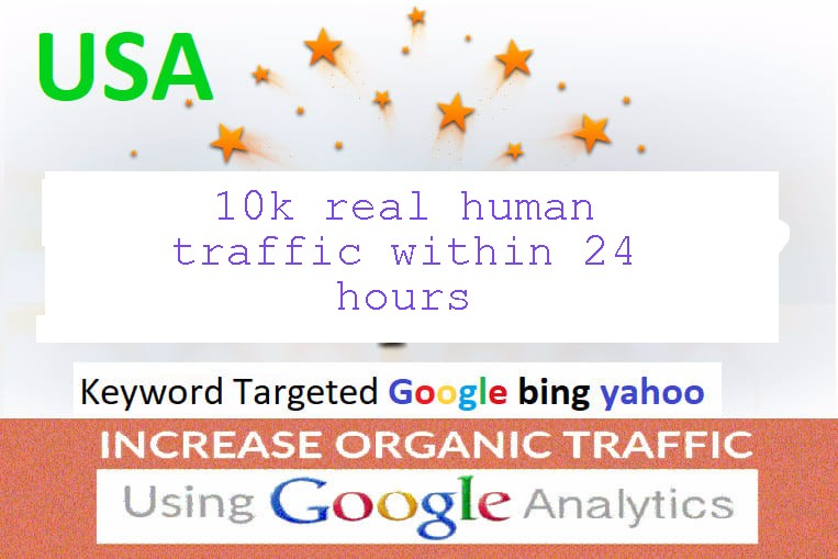 10k us/ca real human traffic within 24 hours