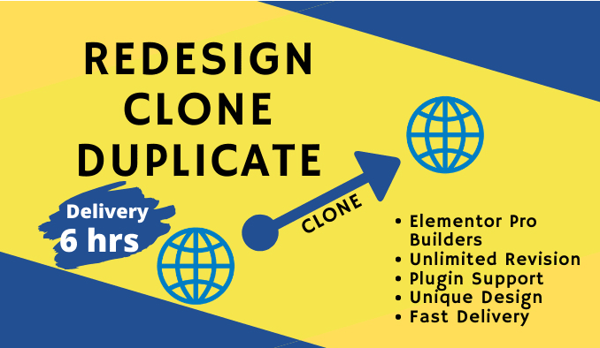 clone,  copy,  redesign,  duplicate your WordPress website with fully responsive