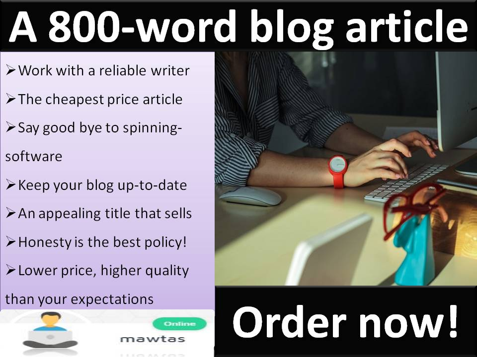 800Words Blog Articles on any niche