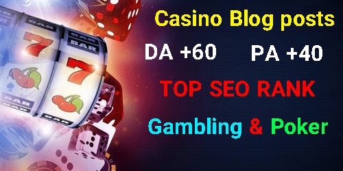 10 CASINO/GAMBLING/POKER Blogger PBN BLOG POST