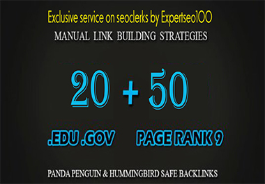 50 PR9 + 20 Edu- Gov High Pr Seo Authority Backlink-Fire Your Google ranking