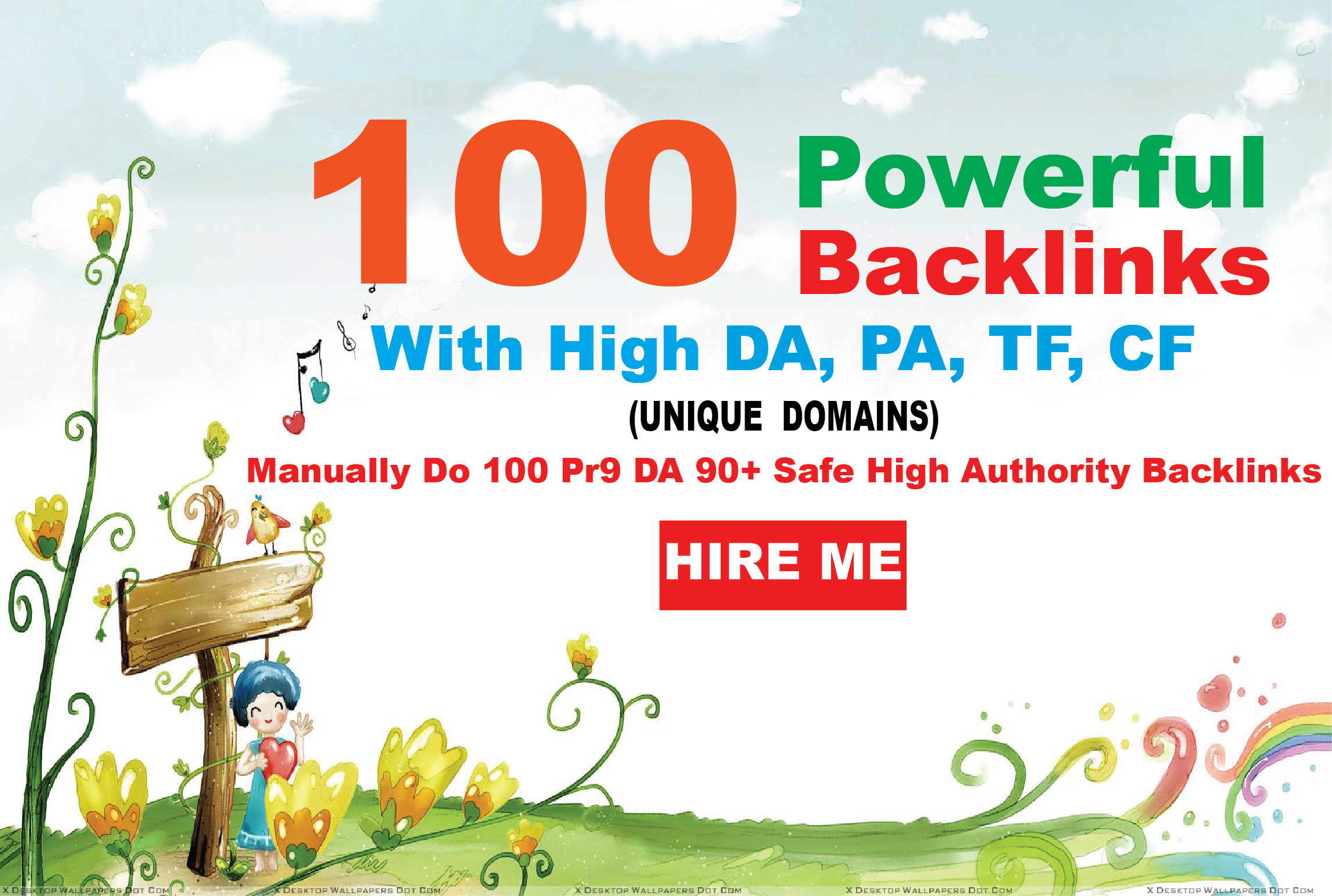 create 100+ High PR3-PR9 Highly Authorized Google Dominating BACKLINKS
