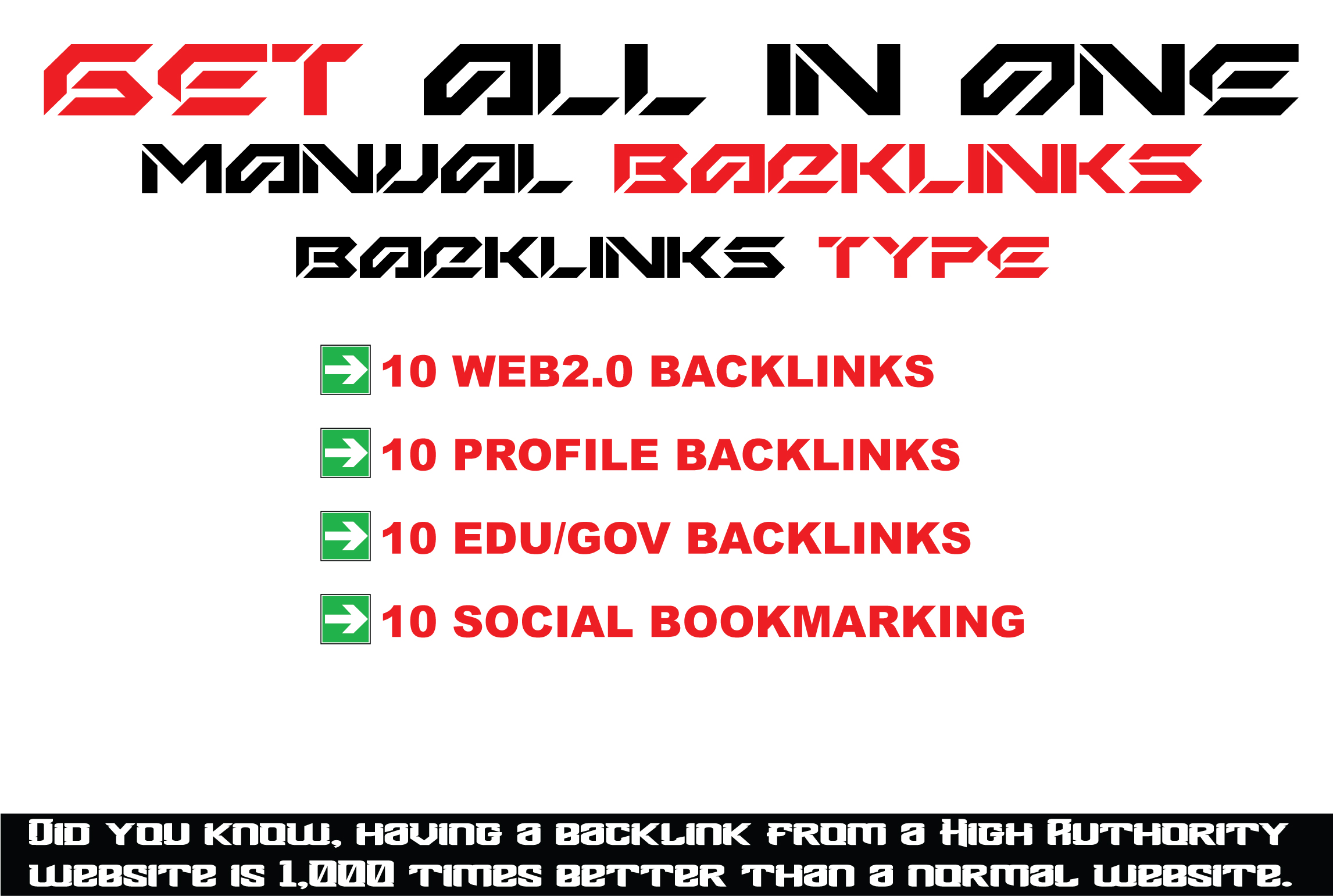 All In One SEO Link Building Backlinks Service