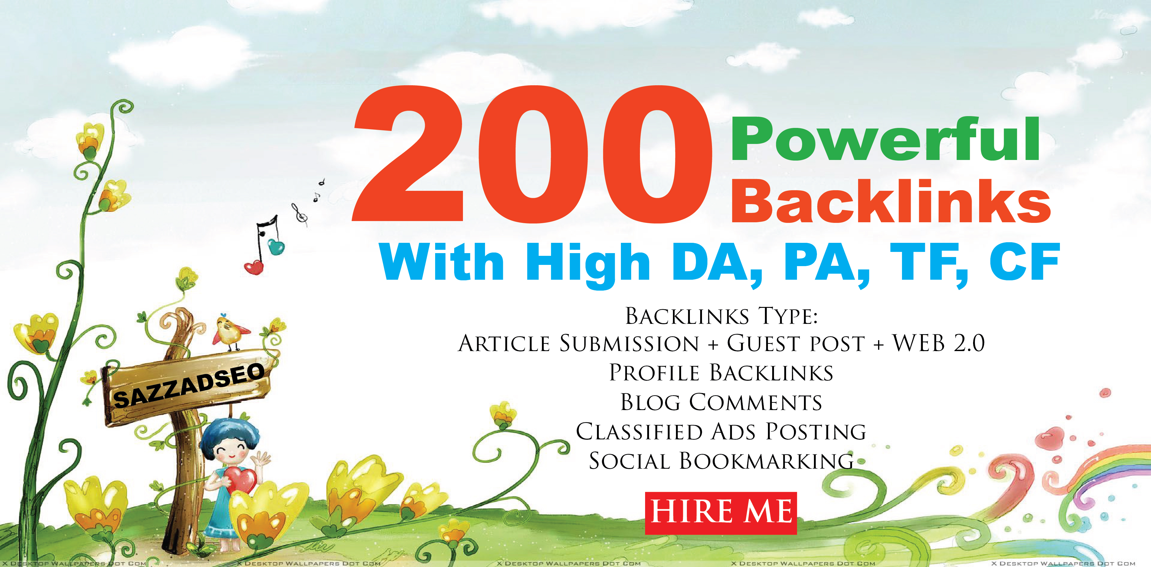Increase Ranking with 200 Unique Domain High Authority SEO Backlinks