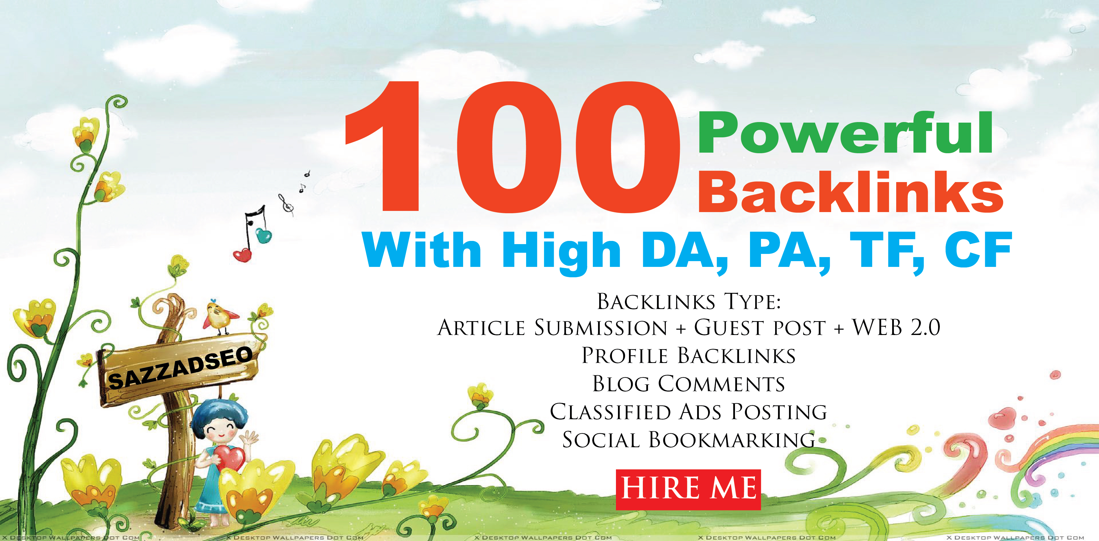 increase Ranking with 100 Unique Domain High Authority SEO Backlinks