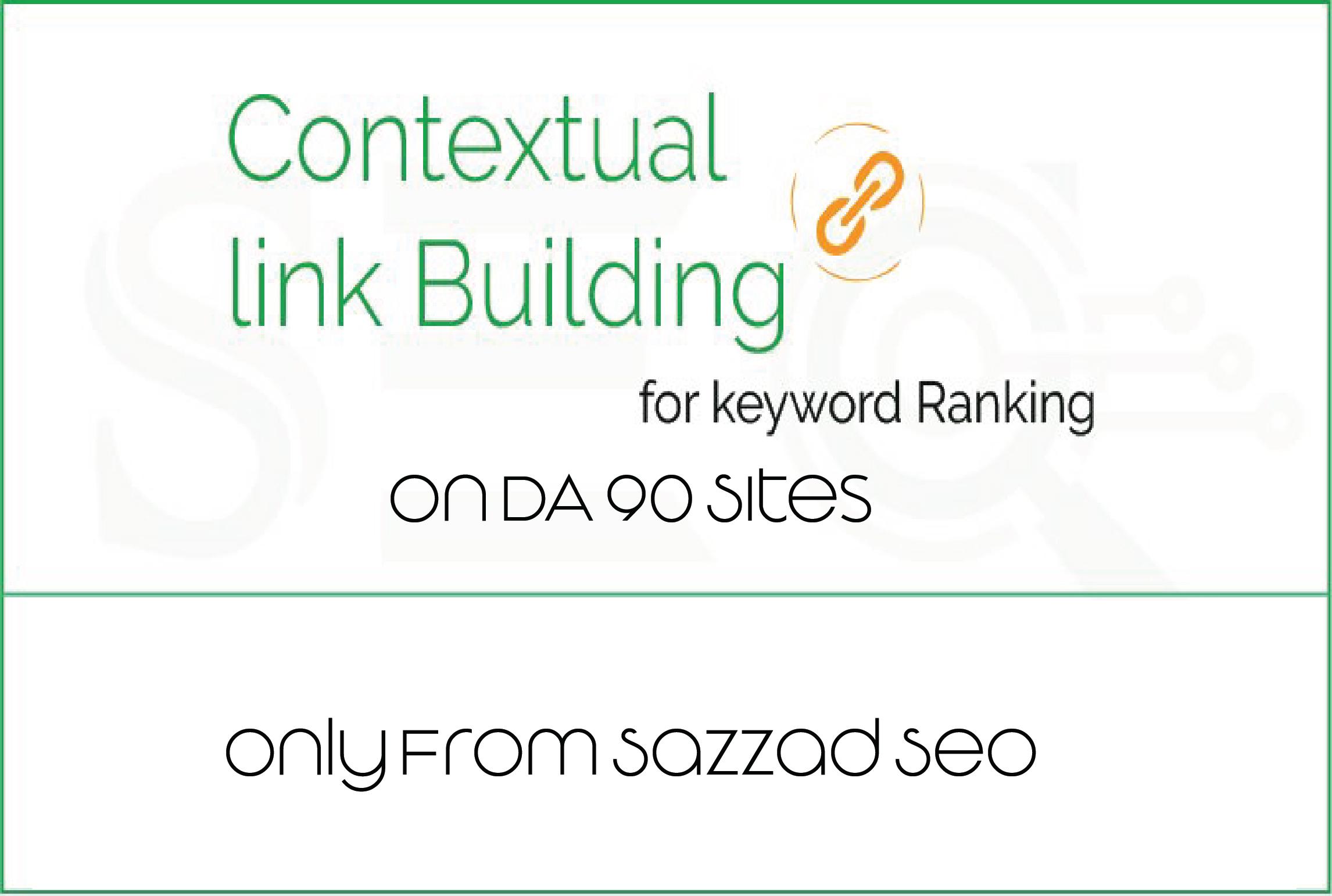 30 DA90+ MANUALLY Created Contextual Backlinks