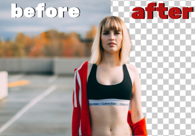 Remove background from any photo without losing quality 25 images