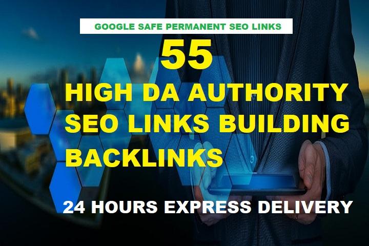 Build 55 High DA Authority SEO Backlinks