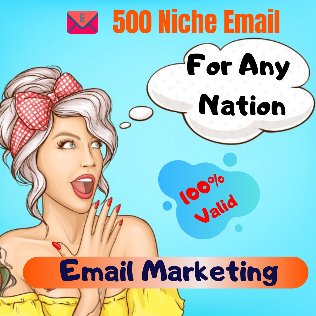 Discover Targeted Niche 500 Active Email List For Email Marketing
