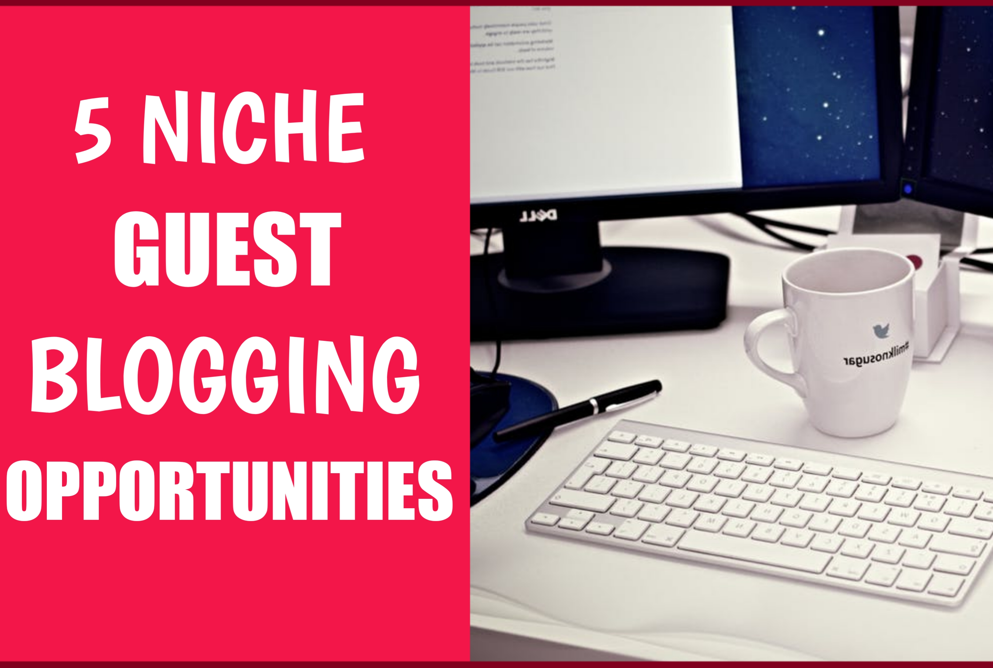 I Will Find 5 Guest Blogging Opportunities Related To Your Niche