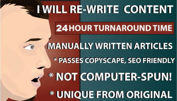 I Will Manually Do Content Rewriting And Article Rewriting