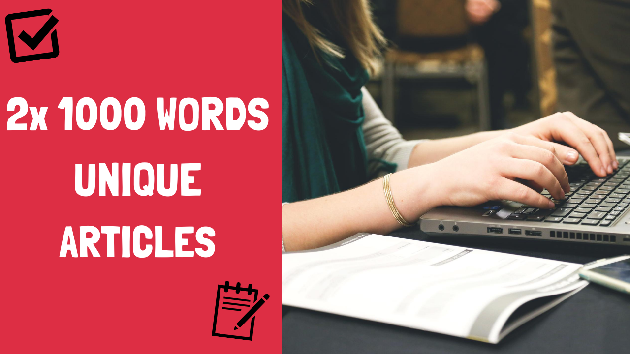 2x 1000 Words Unique Articles For Your Website or Blog