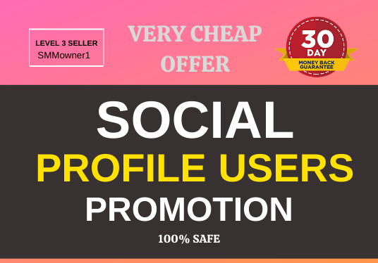 Get High Quality Super Fast profile Promotion and Marketing
