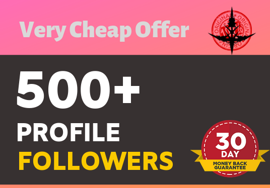 Add 500+ High Quality Super Fast profile followers
