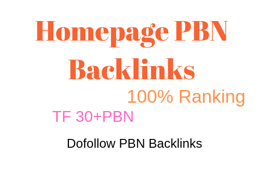 I will provide you 5 pbn backlinks from TF CF 30 plus 10