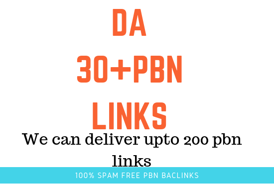 i will Provide you 5 pbn backlinks from DA30 plus Homepage PBN backlinks
