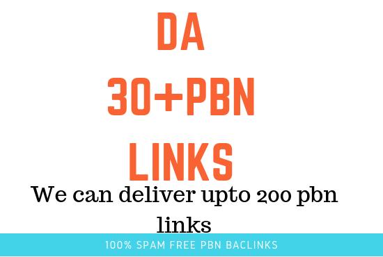 i will Provide you 5 pbn backlinks from DA 30 plus Homepage PBN backlinks