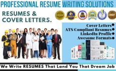 write rewrite job winning resume, cv and cover letter
