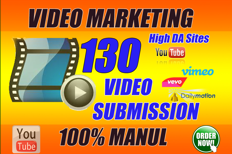 i will do manually upload or submit your video on top 60 video submission sites