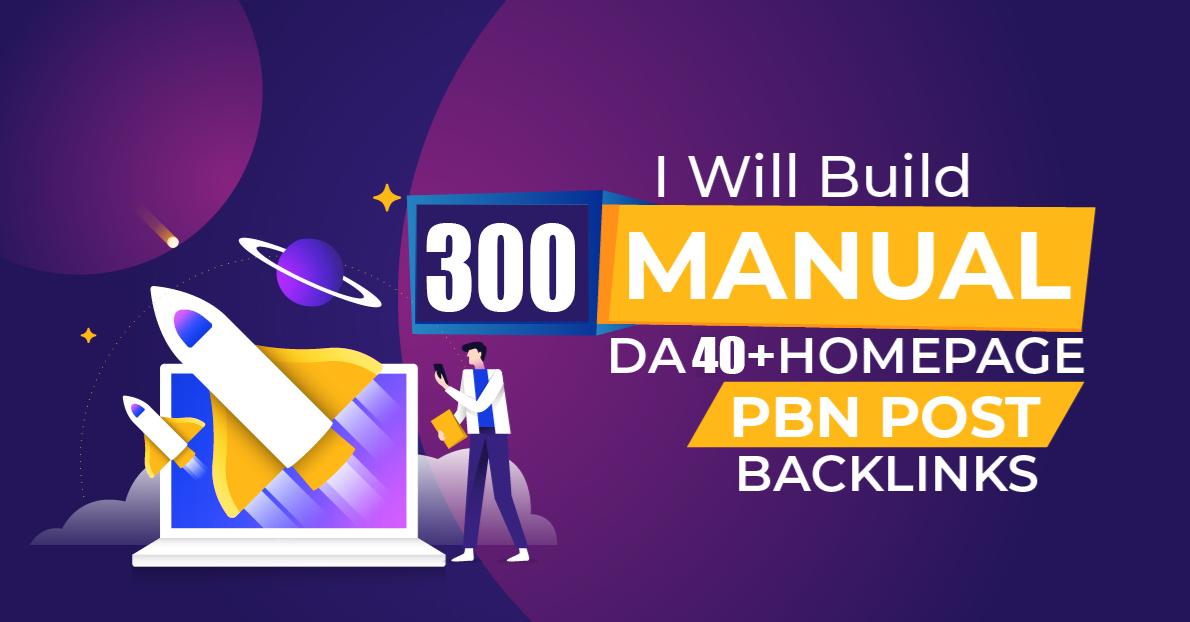 Unique 300 Sites Da 40+ Pa 35+ PR 5 Web 2.0 Pbn 100 Do follow