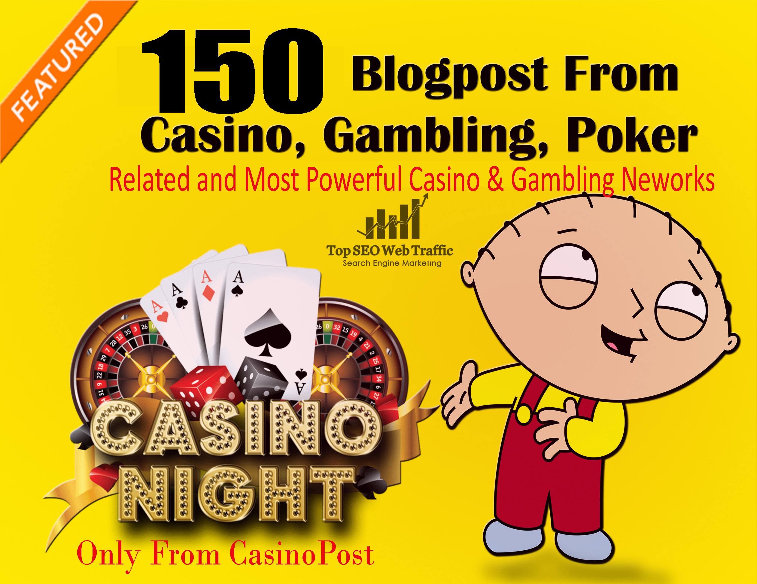 150 Blog-post From Casino,  Gambling,  Poker,  Increase Ranking from web2.0 sites
