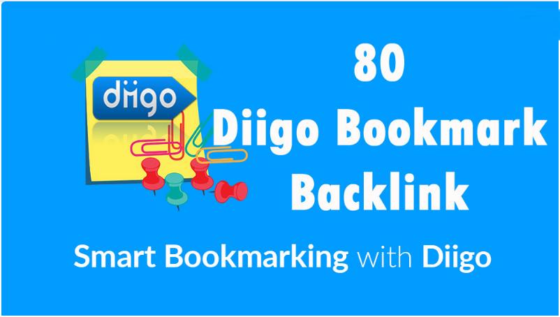 High Quality Diigo 50 Bookmark backlink PR8-9 Google 1 for 5