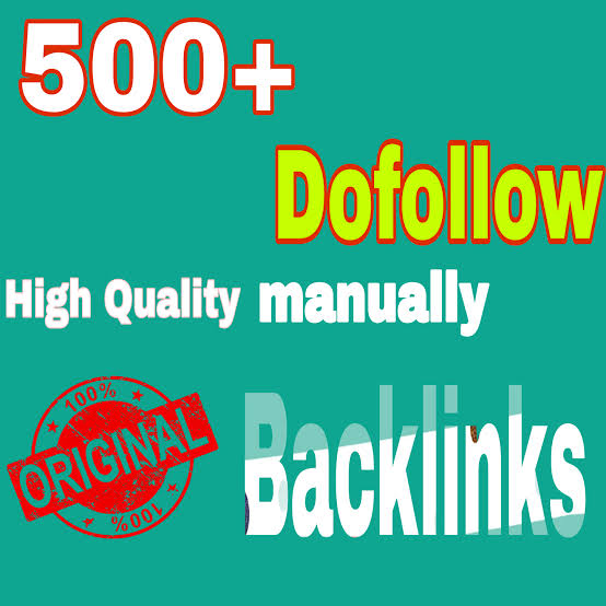Manually Create seo 500 dofollow backlinks,  google ranking,  link building service