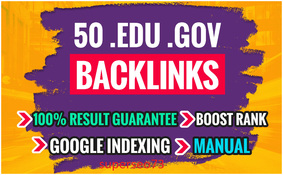 I will do trusted 50 link building, backlinks for off page SEO
