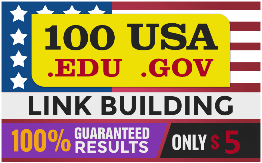 I will do 100 links with education backlinks for google rank