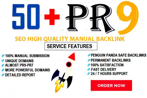 I Will MANUALLY Do 50 UNIQUE PR9 SEO BackLinks on DA100-80 sites best result 2020