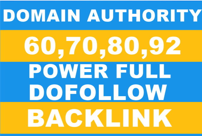 30 High Authority Backlinks from DA 70 to 99 Websites