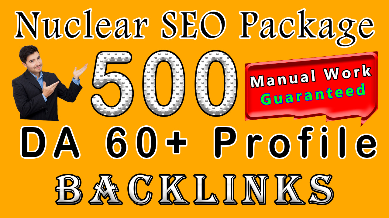 Smash Your Competitors Boost Your Site's Ranking With 500 Permanent SEO Backlinks Manually Craeted