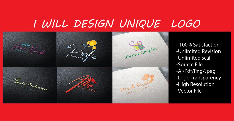 I will design create a unique logo