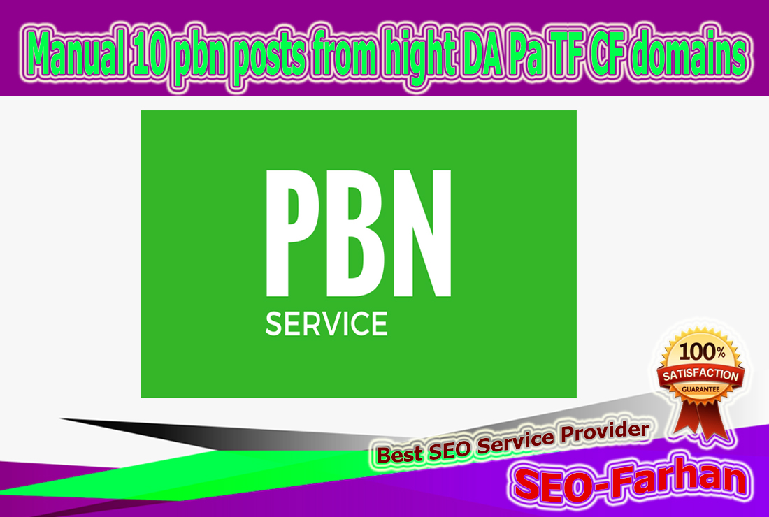 Manual 10 pbn posts from hight DA Pa TF CF 20-30+ domains
