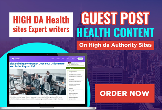 I will guest post skincare health content on high da authority sites