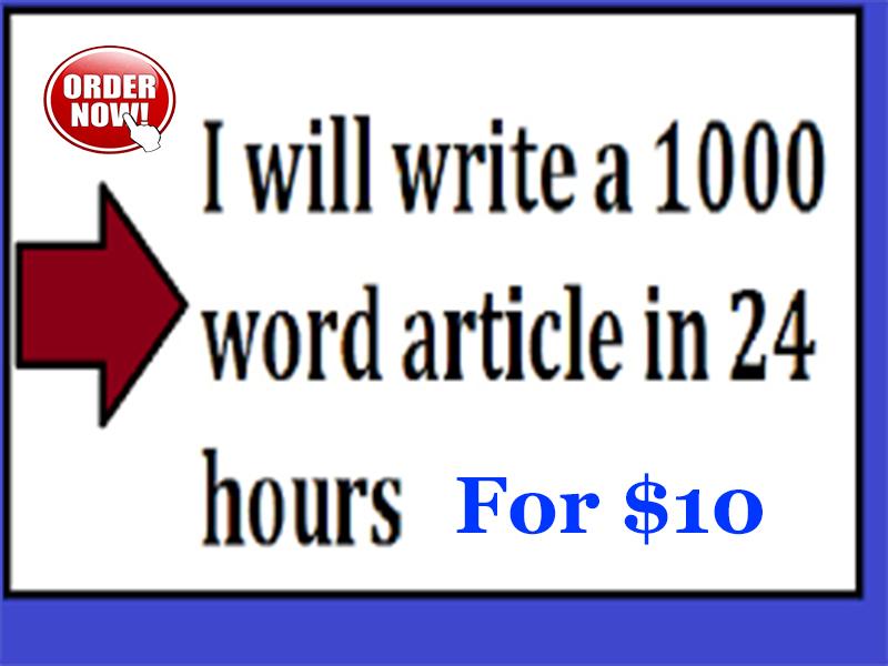 Write 1000 Words Unique Article