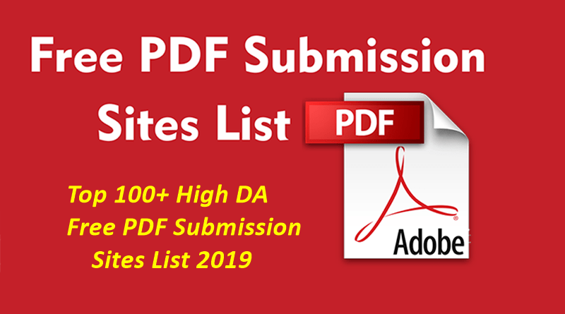 Manually SUBMIT Your PDF Doc. To 10 Sharing Sites on internet