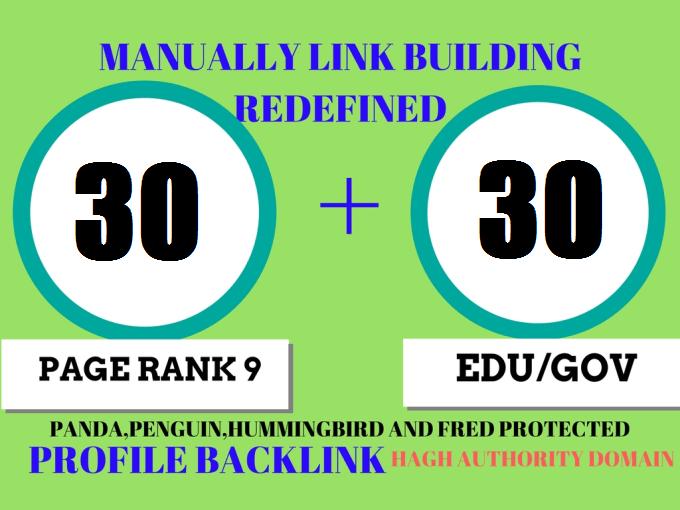 30 Pr9 + 30 Edu - Gov High Pr SEO Authority Backlinks - Fire Your Google Ranking
