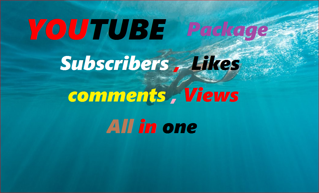 YouTube Package promotion by world wide user