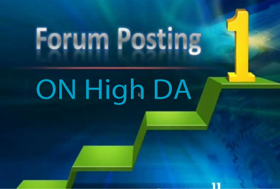 Manually Create 50 Forums or Forum Posts on High DA SEO Links for boost your business