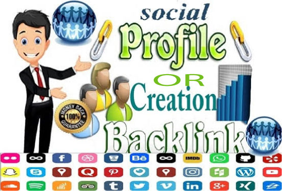 Manually Create 65 Social Profiles Set Up or Profile Creation for boost your business