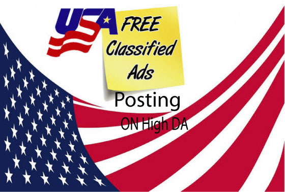 I will do 25 Classified ads posting or Classified Ad on High UK & USA websites